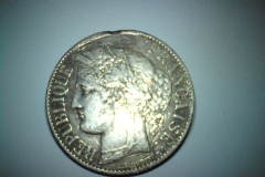 1 Franc 1886 sølv.