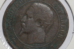 Fransk Centime 1855